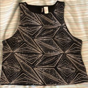 H&M Divided sparkly Crop Top
